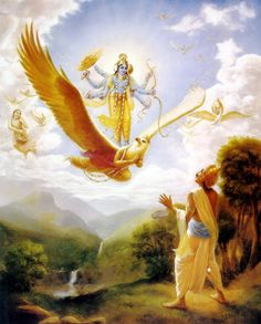 Garuda and Vishnu
