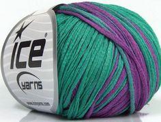 Aqua Tonal  300 yds. Fine Cotton Boucle Hand-dyed yarn