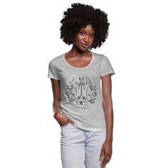 Geschenke Shop   Hamsa drittes Auge Yoga meditation - Frauen T-Shirt mit U-Ausschnitt Yoga Meditation, Mandala Yoga, Namaste, 70s Fashion, Womens Fashion, Yoga Pilates, Vanitas, Neck T Shirt, Sweatshirts