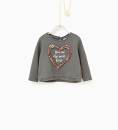 Imagen 1 de Sudadera corazón de Zara