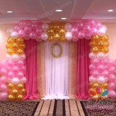 Princess theme Square Balloon Arch. #PartyWithBalloons