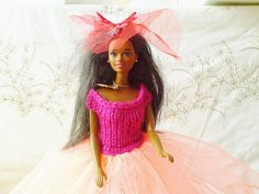 New Handmade  BARBIE DOLL CLOTHES  Ballgown by NANNYCHERYLKATE, $32.92
