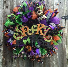 "26"" SPOOKY Wreath  #holidaybaubles #mesh #halloween #wreaths"