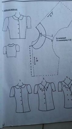 Best 11 How to build different types of thief – SkillOfKing. Sewing Art, Dress Sewing Patterns, Sewing Patterns Free, Clothing Patterns, Sewing Hacks, Sewing Tutorials, Sewing Projects, Bodice Pattern, Collar Pattern