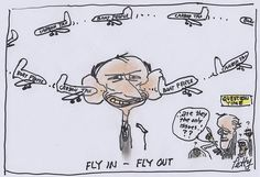 Bruce Petty  - Fly in - Fly out