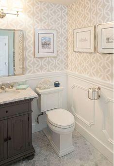 100+ Best Wainscoting Ideas For Each Room. Wainscoting BathroomSmall Bathroom  WallpaperBathroom ...