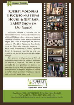 Ruberti Molduras é sucesso nas feiras House & Gift Fair e ABUP Show em São Paulo!