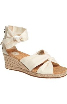 UGG® 'Starla' Espadrille Wedge (Women) available at #Nordstrom