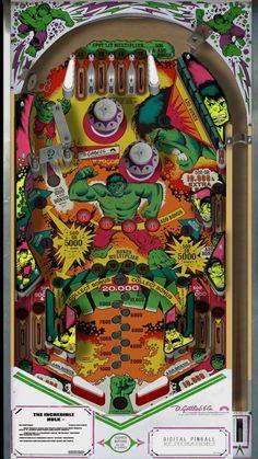 hulk pi Lego Decals, Flipper Pinball, Marble Machine, Pinball Wizard, Penny Arcade, Retro Arcade, Arcade Machine, Incredible Hulk, Art Plastique