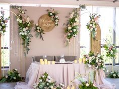 Wedding Backdrop Design, Wedding Decorations, Royal Wedding Guests Outfits, Thai Decor, Bridal Table, Unique Baby Shower, White Backdrop, Wedding Prep, Sweetheart Table