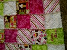 Crazy for CupCakes Rag Quilt by FamilyTie on Etsy, $225.00