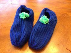 Puschen mit dem Strickring (Knitting Loom)