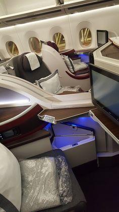 Each Qatar Airways Business Class seat has plenty of storage and table space. Each Qatar Airways Business Class seat has plenty of storage and table space. Plane Photography, Tumblr Photography, Emotional Photography, Dubai Video, Paint Rv, Private Jet Interior, Poses Photo, Fake Girls, Dubai Travel