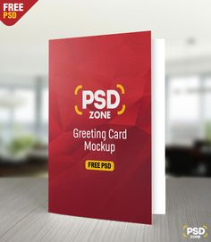 here we have a high quality greeting card mockup free psd with a front view you can use to showcase your greeting or invitation card design