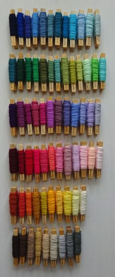 Yarn pegs from attic 24 http://attic24.typepad.com/weblog/2016/02/blanket-planning-with-yarn-pegs.html