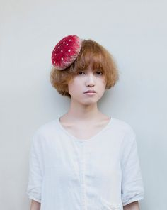 Mushroom cocktail hat by kreuzzz on Etsy, $49.00