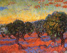Vincent Van Gogh - Post Impressionism - Saint REMY - Oliveraie