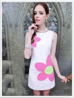 Morpheus Boutique  - White Pink Flower Sleeveless  Dress, $79.99 (http://www.morpheusboutique.com/white-pink-flower-sleeveless-dress/)
