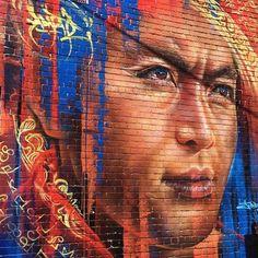 Adnate in Fitzroy , Melbourne , Australia, 2016 Amazing Street Art, Fantastic Art, Awesome, Murals Street Art, Street Art Graffiti, Street Art Melbourne, Melbourne Australia, Street Artists, Public Art