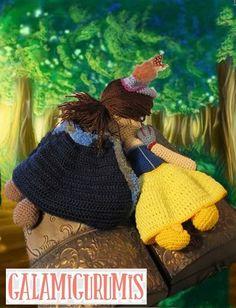 http://www.galamigurumis.com/patron-blancanieves-princesa-de-crochet/ blancanives y principe, patrón gratis