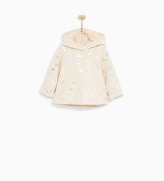 SHINY CLOUDS SWEATSHIRT from Zara.  Baby and toddler girl clothes. 3 month - 4 year sizes.