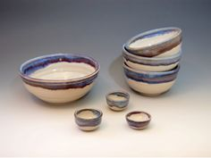 Pottery with a Splash! Clay Art Center Artist Roni Cohen - Ceramic Bowls #CAC