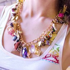 Similar to the one I made from Gma Good's jewels- Chunky Monkey Necklace from Abilu Creations