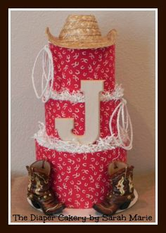 Cowboy themed Diaper Cake!