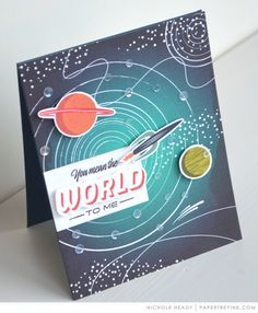 Mean The World To Me Card by Nichole Heady for Papertrey Ink (May 2017)