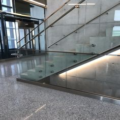 Our recent commercial handrails project by our team. Customized as well as ready to install are available. Contact us now! Indoor Stair Railing, Deck Railings, Staircase Railings, Glass Stairs, Assisted Living, Home Renovation, Metal Working, Custom Design, Commercial