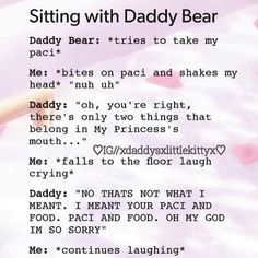 Actually my brain when daddy says something like this Daddys Girl Quotes, Daddy's Little Girl Quotes, Daddy Dom Little Girl, Little Things Quotes, Happy Girl Quotes, My Daddy, Ddlg Little, Little My, Ddlg Quotes