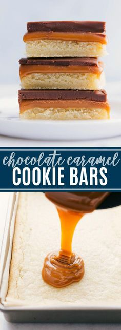 A delectable, homemade twix bar with a soft & chewy sugar cookie base, creamy caramel center, and a velvety smooth chocolate topping. via chelseasmessyapro. easy 3 ingredients easy for a crowd easy healthy easy party easy quick easy simple No Bake Chocolate Cake, Chocolate Caramel Cookies, Homemade Chocolate Chips, Chocolate Topping, Chocolate Cheese, Chocolate Carmel Bars, Easy Dessert Bars, Quick Easy Desserts, Easy Cookie Recipes