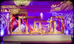 Holy moly Purple, Red and Gold love! This bright and bold, Purple, Red and Gold Wedding was styled by our very own Suhaag Garden design team and it had the ...