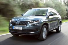 We drive the Kodiaq from Volkswagen's Czech subsidiary Skoda, developed alongside the seven-seat VW Tiguan we'll get next year. Read our impressions and see photos at Car and Driver. 2018 Chevy Equinox, Chevrolet Equinox, Gmc Suv, Ford Fiesta St, Vw Tiguan, Mazda Cx 9, Mid Size Suv, Jaguar Xf, Toyota 4