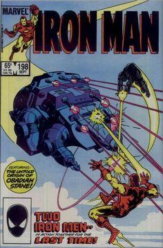 Iron Man # 198 by Sal Buscema, Ian Akin & Brian Garvey
