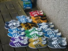 The adidas Gazelle. I guess you just have to be from the 80's to know what these are all about. love every pair.