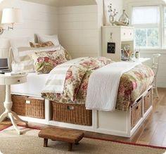 heel mooi, die manden onder het bed!