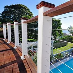 Best modern glass deck railing systems ideas that will impress you View more ideas about Banister ideas, Decks and Railing ideas. Complementary search: Bench Deck Railing, Deck Railing Terraces Pin this now. Deck Railing Systems, Deck Railings, Banisters, Banister Ideas, Garage Pergola, Deck With Pergola, Pergola Ideas, Pergola Roof, Roof Design