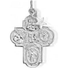 Iconics Silver Large Mason Cross Pendant