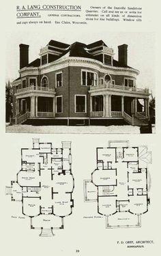 1908 Western Home Builder Prairie Box House Plan Seattle Vintage