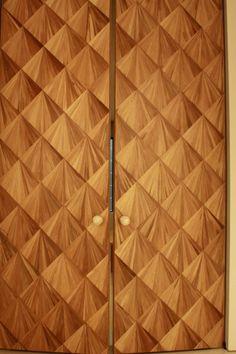 © STUDIO ZUNG // Bridgehampton, New York // House // Architecture // Interior Design // Sterling Silver Mother of Pearl Door Handles // Balinese Bamboo Door
