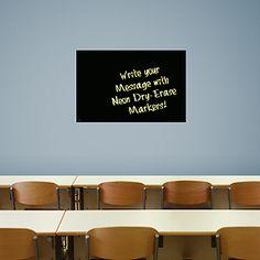 Medium Black Dry Erase Board by Fathead......I WANT THIS!!