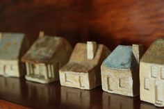 Little Ceramic Houses by HelC, via Flickr