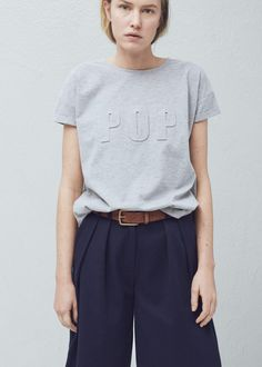 Embossed cotton t-shirt -  Women | MNG #WITCHERYSTYLE