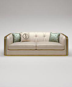 Double sofa Bauhaus from the Italian manufacturer Bruno Zampa. Sofa Makeover, Furniture, Upholstered Sofa, Sofa Furniture, Art Deco Sofa, Sofa Styling, Elegant Living Room Design, Sofa, Living Room Sofa Design