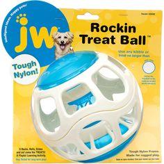 JW Pet Rockin Treat Ball Dog Toy, $16, PetCo.