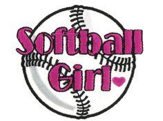 Softball Girl Iron-On Applique | Shop Hobby Lobby
