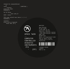 Aphex Twin Announces Computer Controlled Acoustic Instruments Pt2 EP | News | Pitchfork