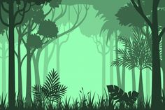 Jungle Vectors, Photos and PSD files | Free Download Forest Background, Background Drawing, Vector Background, Forest Painting, Forest Illustration, Natural Scenery, Photoshop Design, Vector Art, Wall Murals