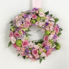 Lavander and Pink Wedding Wreath Arrangement